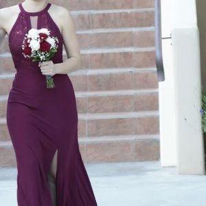 Maroon Bridesmaid Dress